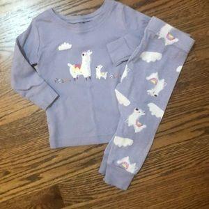 Old Navy llama pajamas